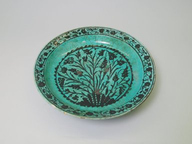Plate, late 16th century. Ceramic, 3 1/8 x 12 1/4 in. (7.9 x 31.1 cm). Brooklyn Museum, Gift of Mr. and Mrs. Charles K. Wilkinson, 74.49.1. Creative Commons-BY