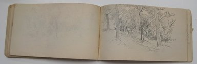William Trost Richards (American, 1833-1905). Sketchbook, English and French Landscape and Coastal Subjects, 1880. Graphite on paper, 3 15/16 x 6 7/8 in. (10 x 17.5 cm). Brooklyn Museum, Gift of Edith Ballinger Price, 75.15.15