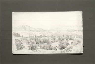 William Trost Richards (American, 1833-1905). Sketchbook, Adirondack Subjects, 1863. Graphite on paper, 4 3/4 x 8 in. Brooklyn Museum, Gift of Edith Ballinger Price, 75.15.5