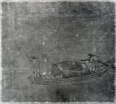 Fishermen (Album Leaf), 14th Century. Ink and light color on silk, Overall: 15 1/8 x 18 3/4 in. (38.4 x 47.6 cm). Brooklyn Museum, Gift of Howard Hollis, 75.172.23