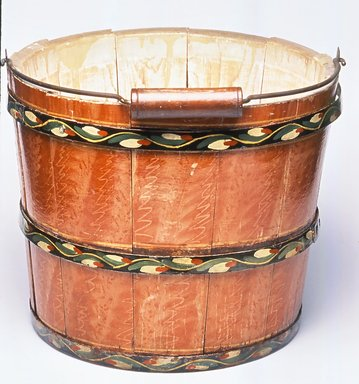 Joseph Long Lehn (1789-1892). Bucket with Handle, ca. 1885. Wood, iron, metal, and paint, Height: 9 1/2 in. (24.1 cm). Brooklyn Museum, Gift of Mr. and Mrs. Alastair B. Martin, the Guennol Collection, 75.21. Creative Commons-BY
