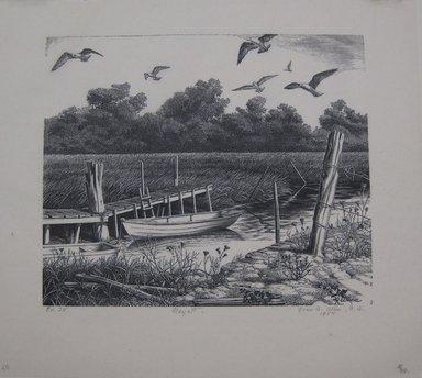 Grace Arnold Albee (American, 1890-1995). Nayatt, 1954. Wood engraving on paper, Sheet: 9 x 10 1/16 in. (22.9 x 25.6 cm). Brooklyn Museum, Gift of the artist, 76.198.50. © Estate of Grace Arnold Albee