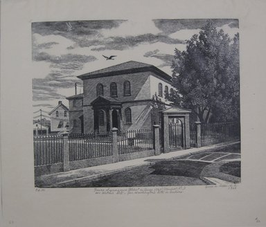 Grace Arnold Albee (American, 1890-1995). Touro Synagogue, Newport, Rhode Island, 1966. Wood engraving on paper, Image: 7 7/8 x 9 13/16 in. (20 x 24.9 cm). Brooklyn Museum, Gift of the artist, 76.198.69. © Estate of Grace Arnold Albee