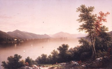 John William Casilear (American, 1811-1893). Lake George, 1857. Oil on canvas, 37 5/8 x 60 in. (95.5 x 152.4 cm). Brooklyn Museum, Gift of The Roebling Society and Dick S. Ramsay Fund, 76.56