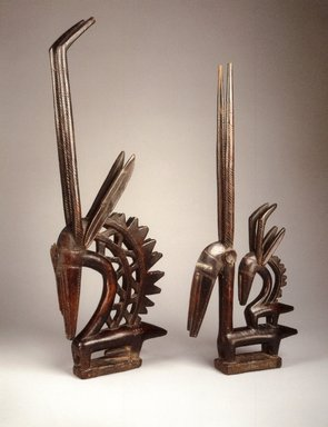 Bamana. Dance Headdress (Ci-wara Kun), late 19th-early 20th century. Wood, metal, 31 3/4 x 13 1/2 x 2 3/4 in. (80.6 x 34.3 x 7 cm). Brooklyn Museum, Gift of Rosemary and George Lois, 77.245.2. Creative Commons-BY