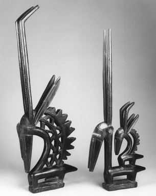 Bamana. Dance Headdress (Ci-wara Kun), late 19th-early 20th century. Wood, metal, 36 3/8 x 14 1/4 x 2 7/8 in. (92.4 x 36.2 x 7.3 cm). Brooklyn Museum, Gift of Rosemary and George Lois, 77.245.1. Creative Commons-BY