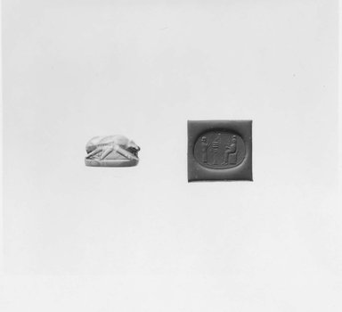 Ancient Near Eastern. Stamp Seal in the Shape of a Scarab, 7th-6th century B.C.E. Agate, 3/8 x 1/2 x 11/16 in. (1 x 1.3 x 1.7 cm). Brooklyn Museum, Special Middle Eastern Art Fund, 77.89. Creative Commons-BY