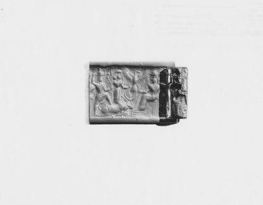 Ancient Near Eastern. Cylinder Seal, 1450-1300 B.C.E. Hematite, 15/16 x Diam. 7/16 in. (2.4 x 1.1 cm). Brooklyn Museum, Special Middle Eastern Art Fund, 78.133. Creative Commons-BY