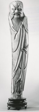 Figure of a Taoist Immortal, 16th century. Ivory, 8 x 1 1/2 x 1 1/4 in. (20.3 x 3.8 x 3.2 cm). Brooklyn Museum, Gift of Dr. Martin E. Frankel, 78.249.1. Creative Commons-BY