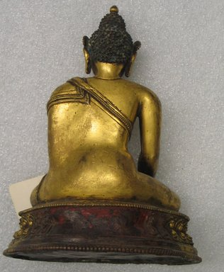 Seated Vajrasana, 15th century. Gilt bronze, 8 1/2 x 7 1/8 x 4 in. (21.6 x 18.1 x 10.2 cm). Brooklyn Museum, Gift of Jeffrey Kossak, 78.255.2. Creative Commons-BY