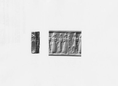 Ancient Near Eastern. Cylinder Seal, ca. 1500-1300 B.C.E. Hematite, 15/16 x Diam. 3/8 in. (2.4 x 1 cm). Brooklyn Museum, Special Middle Eastern Art Fund, 78.3. Creative Commons-BY