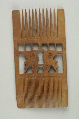 Comb, 1st to 5th century C.E. Wood, 2 5/8 x 1 15/16 x 5 in. (6.7 x 5 x 12.7 cm). Brooklyn Museum, Mr. and Mrs. David Liebert, 79.174. Creative Commons-BY