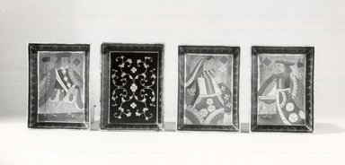 Set of Four Side Dishes, 18th century. Black lacquer on wood, painted, 7/8 x 3 1/2 x 4 7/8 in. (2.2 x 8.9 x 12.4 cm). Brooklyn Museum, Gift of Stanley J. Love, 79.272.4. Creative Commons-BY