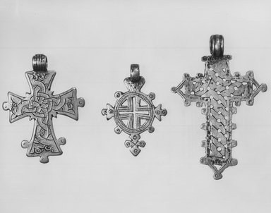 Amhara. Pendant Cross, 19th or 20th century. Silver, 2 1/8 x 1 5/8 in. (5.3 x 4.4 cm). Brooklyn Museum, Gift of George V. Corinaldi Jr., 79.72.34. Creative Commons-BY