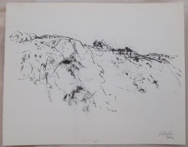 John Edward Heliker (American, 1909-2000). Cliff, 1961. Lithograph, Sheet: 10 x 12 5/8 in. (25.4 x 32.1 cm). Brooklyn Museum, Anonymous gift, 80.209.56. © Estate of John Edward Heliker