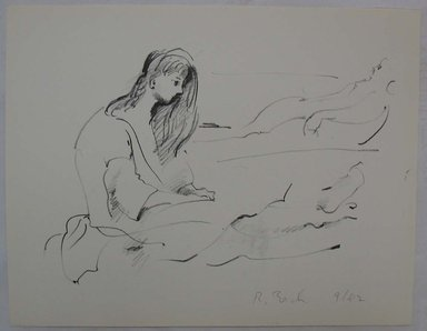 Rosemarie Beck (American, 1923-2003). Woman, Profile, mid to late 20th century. Lithograph, Sheet: 9 15/16 x 12 3/4 in. (25.2 x 32.4 cm). Brooklyn Museum, Anonymous gift, 80.209.8. © Rosemarie Beck Foundation
