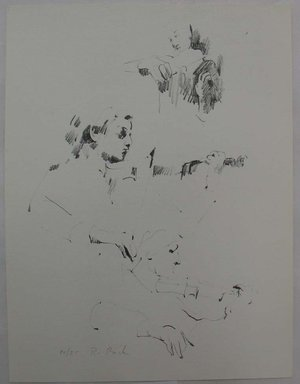 Rosemarie Beck (American, 1923- 2003). Violinist Sketches, mid 20th-late 20th century. Lithograph, Sheet: 13 3/16 x 10 in. (33.5 x 25.4 cm). Brooklyn Museum, Anonymous gift, 80.209.9. © Rosemarie Beck Foundation