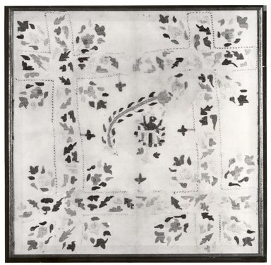 Chamba Rumal, ca. 1910. Cotton embroidery on cotton square, 25 1/2 x 25 1/2 in. (64.8 x 64.8 cm). Brooklyn Museum, Gift of Paul F. Walter, 80.283.1