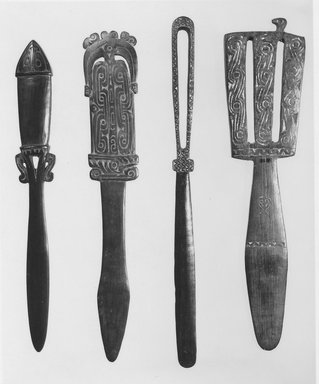 Lime Spatula (Kena). Wood, lime, L: 13 in. (33 cm). Brooklyn Museum, Gift of Mrs. Donald M. Oenslager, 80.31.5. Creative Commons-BY