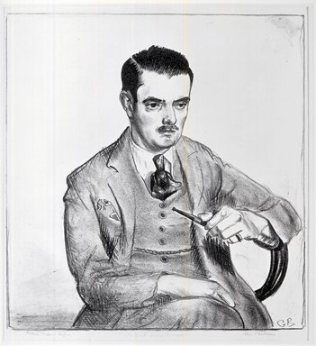 George Wesley Bellows (American, 1882-1925). Portrait of Louis Bouche, 1921. Lithograph on thin cream-colored wove paper, 13 1/16 x 11 9/16 in. (33.1 x 29.3 cm). Brooklyn Museum, Designated Purchase Fund, 80.56