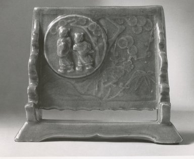 Table Screen, 16th century. Celadon porcelain, 6 x 7 1/4 in. (15.2 x 18.4 cm). Brooklyn Museum, Gift of Mr. and Mrs. Stanley Herzman, 80.72.17. Creative Commons-BY