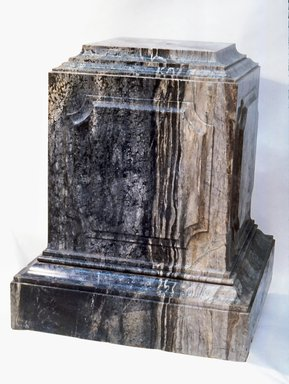 McKim, Mead & White (American, active 1872-1961). Pedestal from Villard Houses, ca. 1909. Vermont marble, H: 35 in. (88.9 cm). Brooklyn Museum, Gift of Harry Helmsley, 81.129. Creative Commons-BY