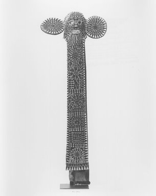 Bamileke. Kuosi Society Elephant Mask, 20th century. Cloth, beads, raffia, fiber, 57 3/4 x 20 1/2 x 11 1/2 in. (146.7 x 52.1 x 29.2 cm). Brooklyn Museum, Purchased with funds given by Mr. and Mrs. Milton F. Rosenthal, 81.170. Creative Commons-BY