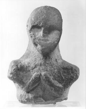Head and Bust, ca. 3200-2800 B.C.E. Limestone, 16 15/16 x 11 7/8 x 6 11/16 in. (43 x 30.1 x 17 cm). Brooklyn Museum, Gift of Jonathan P. Rosen, 81.181.1. Creative Commons-BY