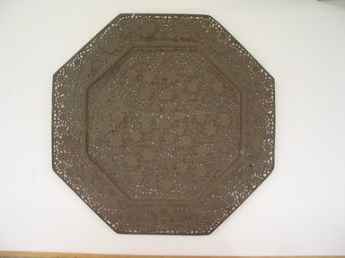 Octagonal Tray, 18th-early 19th century. Bronze, 1 x 17 x 16 15/16 in. (2.5 x 43.2 x 43 cm). Brooklyn Museum, Gift of David Rubin, 81.199.3. Creative Commons-BY