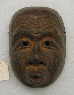 Kyogen Mask of Hyottoko, 18th-19th century. wood, 8 x 5 1/2 in. (20.3 x 14 cm). Brooklyn Museum, Gift of Dr. John P. Lyden, 81.296.9. Creative Commons-BY