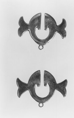 Earring Pendant. Silver, 1 x 1 1/4 in. (2.6 x 3.2 cm). Brooklyn Museum, Gift of Mrs. William R. Maris, 81.45.5. Creative Commons-BY