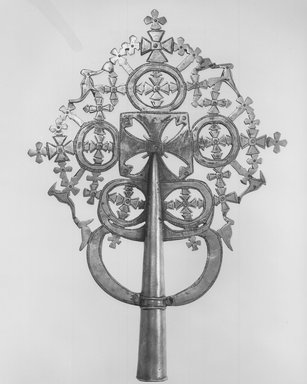 Amhara. Processional Cross, 19th century. Copper alloy, 15 5/8 x 10 7/8 in.  (39.7 x 27.7 cm). Brooklyn Museum, Gift of George V. Corinaldi Jr., 82.102.1. Creative Commons-BY