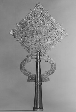 Amhara. Processional Cross, 20th century. Silver, 15 x 8 1/8 in. (38.2 x 20.7 cm). Brooklyn Museum, Gift of George V. Corinaldi Jr., 82.102.2. Creative Commons-BY