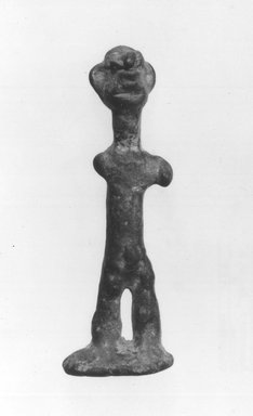 Hittite Statuette, 1750-1600 B.C.E. Copper, 2 5/16 x 13/16 in. (5.9 x 2 cm). Brooklyn Museum, Gift of Jonathan P. Rosen, 82.116.3. Creative Commons-BY