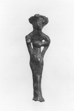 Syro-Lebanese. Standing Male Figure with 4 Arms, 2000-1500 B.C.E. Bronze, 2 13/16 x 13/16 in. (7.1 x 2.1 cm). Brooklyn Museum, Gift of Jonathan P. Rosen, 82.116.5. Creative Commons-BY