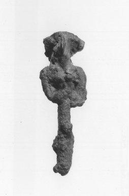 Syro/Lebanese Statuette, 2000-1500 B.C.E. Bronze, 1 7/8 x 9/16 in. (4.7 x 1.4 cm). Brooklyn Museum, Gift of Jonathan P. Rosen, 82.116.7. Creative Commons-BY