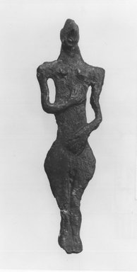 Syro-Lebanese. Standing Figure, 2000-1500 B.C.E. Bronze, 3 3/4 x 1 1/8 in. (9.5 x 2.8 cm). Brooklyn Museum, Gift of Jonathan P. Rosen, 82.116.9. Creative Commons-BY