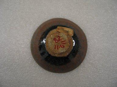 Kimura Morikazu (Japanese, born 1934). Sake Cup, ca. 1965. Stoneware; Temmoku ware, 1 3/8 x 3 3/8 in. (3.5 x 8.6 cm). Brooklyn Museum, Gift of Martin Greenfield, 82.119.11. Creative Commons-BY
