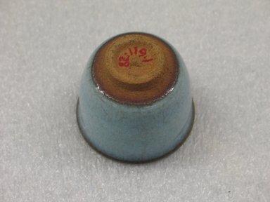 Hara Kiyoshi (Japanese, born 1936). Sake Cup, ca. 1965. Stoneware; Chun ware, 2 1/8 x 2 1/2 in. (5.4 x 6.4 cm). Brooklyn Museum, Gift of Martin Greenfield, 82.119.1. Creative Commons-BY