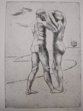 Kenneth Hayes Miller (American, 1876-1954). Youth, 1925. Etching on paper, folder: 19 5/16 x 14 1/4 in. (49.1 x 36.2 cm). Brooklyn Museum, Gift of Bernice and Robert Dickes, 82.142.11