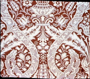 Jeffrey & Co.. Wallpaper, The Cecil pattern, ca. 1897. Paper, 22 1/2 x 22 1/2 in. (57.2 x 57.2 cm). Brooklyn Museum, Gift of Arlene M. and Thomas C. Ellis, 82.239.12