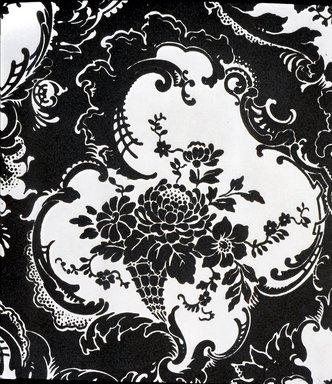 Wallpaper, ca. 1900. Paper, 22 1/2 x 24 1/2 in. (57.2 x 62.2 cm). Brooklyn Museum, Gift of Arlene M. and Thomas C. Ellis, 82.239.22