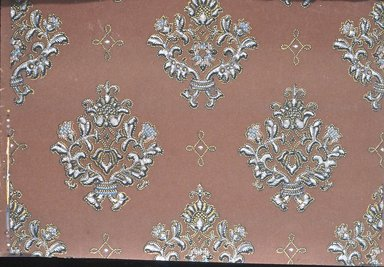 Wallpaper, ca. 1900. Paper, 19 5/8 x 15 in. (49.8 x 38.1 cm). Brooklyn Museum, Gift of Arlene M. and Thomas C. Ellis, 82.239.4