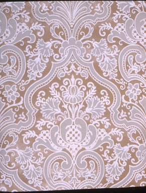 Wallpaper, ca. 1900. Paper, 19 3/4 x 25 1/8 in. (50.2 x 63.8 cm). Brooklyn Museum, Gift of Arlene M. and Thomas C. Ellis, 82.239.40