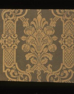 J. Z. Zuber & Cie.. Wallpaper, ca. 1900. Paper, 19 5/8 x 17 in. (49.8 x 43.2 cm). Brooklyn Museum, Gift of Arlene M. and Thomas C. Ellis, 82.239.44