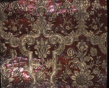 Wallpaper, ca. 1880. Paper, 25 x 26 in. (63.5 x 66.1 cm). Brooklyn Museum, Gift of Arlene M. and Thomas C. Ellis, 82.239.67