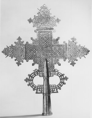 Amhara. Processional Cross, 20th century. Silver, 19 1/8 x 15 1/16 in. (48.6 x 38.8 cm). Brooklyn Museum, Gift of George V. Corinaldi, Jr., 83.144. Creative Commons-BY