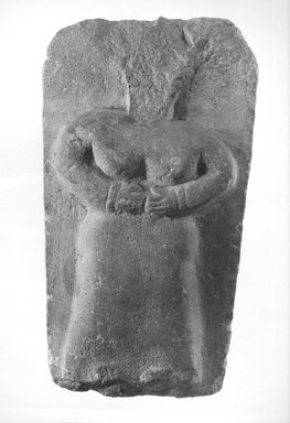 Stela with Standing Woman, 1st century B.C.E.-3rd century C.E. Limestone, 9 5/16 x 5 1/16 in. (23.6 x 12.9 cm). Brooklyn Museum, Gift of Dr. and Mrs. Richard H. Kessler, 84.129.1. Creative Commons-BY