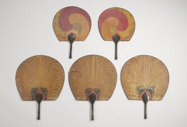 Fan, ca. 1900. Bamboo, oiled paper and wood, 15 1/4 x 11 3/4 in. (38.7 x 29.8 cm). Brooklyn Museum, Gift of Dr. and Mrs. Charles Perera, 84.141.6. Creative Commons-BY
