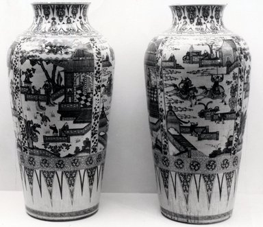 Monumental Vase, One of Pair, 1662-1722. Porcelain, 37 x 18 1/2 in. (94 x 47 cm). Brooklyn Museum, Gift of Dr. Ralph C. Marcove, 84.198.1. Creative Commons-BY